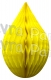 5 Inch Yellow Rain Drop Ornament Decoration (12 pcs)