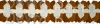 12 Foot Cross Garland Decoration Brown (12 pcs)