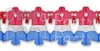12 Foot Patriotic Bell Garland (6 pcs)