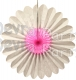 Vintage Pink and White Fanburst Decoration (12 pcs)