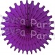 Purple 18 Inch Tissue Paper Fan (12 Pieces)