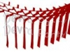 Red Streamer Garland Decoration (12 pcs)
