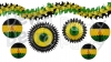 7-piece Jamaican Honeycomb Decoration Set (Black/Yellow/Green)