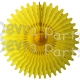 26 Inch Tissue Fan Yellow (12 pcs)