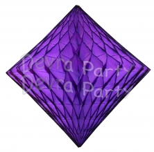 Purple Hanging Diamond Decoration (12 pcs)