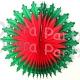 22 Inch Poinsettia Christmas Fan (6 pcs)