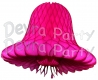 Cerise Tissue Bells (12 Pieces)
