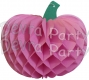 Tissue Paper Pumpkin Decoration, 10 Inch, Dusty Rose (12 pcs)