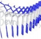 Blue White Blue Streamer Garland Decoration (12 pcs)