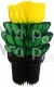 16 Inch Jamaican Black Yellow Green Tissue Flowerpot (12 pcs)