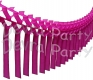 Cerise Streamer Garland Decoration (12 pcs)