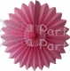 Hanging Tissue Fanburst Decoration Dusty Rose (12 pcs)
