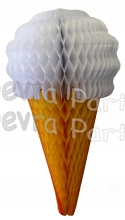 White 20 Inch Tissue Paper Ice Cream Cones (6 pieces)