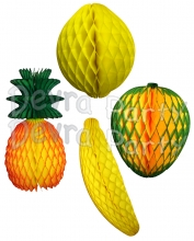 Tropical Honeycomb Fruit Decoration Kit, 15 Inch (16 pieces)