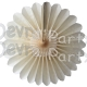 Tissue Fanburst Decoration Classic and Vintage Ivory (12 pcs)