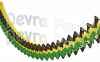 12 Foot Jamaican Cross Garland - Black Yellow Green (12 pcs)