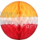 Yellow White Red Honeycomb Tissue Paper Ball (12 pcs)