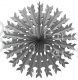 22 Inch Gray Tissue Paper Snowflake Decoration (12 pcs)