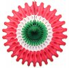 18 Inch Red White Green Christmas Fan Decoration (12 pcs)