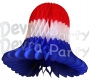 18 Inch Large Tissue Paper Bell Decoration Patriotic (12 pcs)