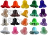 15 Inch Honeycomb Paper Bell Solid Colors (12 pcs)