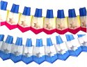12 Foot Tissue Paper Dreidel Garland (6 pcs)