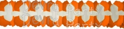 12 Foot Cross Garland Decoration Orange & White (12 pcs)