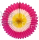 27 Inch Deluxe Fan Hot Pink White Yellow (12 pcs)