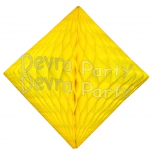 Yellow Hanging Diamond Decoration (12 pcs)