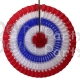 16 Inch Tissue Paper Striped Fan Red White Blue (12 pcs)