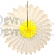 Yellow and White Daisy Fanburst Decoration (12 pcs)