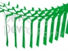 Light Green Streamer Garland Decoration (12 pcs)