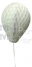 11 Inch White Honeycomb Balloon Decoration (12 pieces)