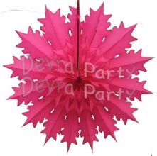 19 Inch Tissue Paper Snowflake Cerise (12 Pieces)