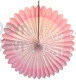 27 Inch Deluxe Fan Pink White (12 pcs)