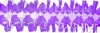12 Foot Purple Spider Fringe Garland (12 pcs)