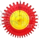 Red Yellow 18 Inch Fan Decoration (12 pcs)