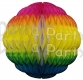 8 Inch Rainbow Puff Ball Decoration (12 pcs)