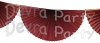 Maroon (Dyed Burgundy) 10 Foot Bunting Fan Garland (12 pcs)