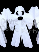 12 Foot Tissue Paper Ghost Garland (6 pcs)