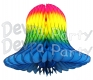 Multi Colored Rainbow Tissue Party Bells (12 Pieces)
