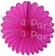Tissue Fanburst Decoration Cerise (12 pcs)