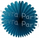13 Inch Fan Turquoise Decorations (12 PCS)
