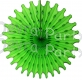 Lime Green 18 Inch Tissue Paper Fan (12 pieces)