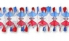 12 Foot Patriotic Spider Fringe Garland (12 pcs)