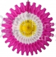 Easter 18 Inch Tissue Paper Fan - Hot Pink/White/Yellow (12 pcs)