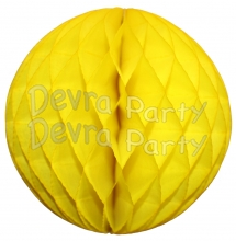 Yellow Tissue Paper Ball (12 pcs)
