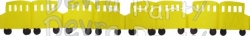 12 Foot Tissue Paper School Bus Garland Decoration (6 pcs)