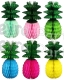 Honeycomb Pineapple Decoration, 13 inch- Green Leaves (12 pcs)