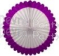 27 Inch Deluxe Fan Purple White (12 pcs)